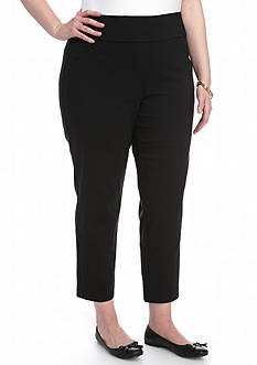 Alfred Dunner Plus Size Wrap It Up Allure Short Pants