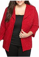 Alfred Dunner Plus Size Wrap It Up Boucle Glitter
