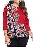 Alfred Dunner Plus Size Wrap It Up Asymmetrical
