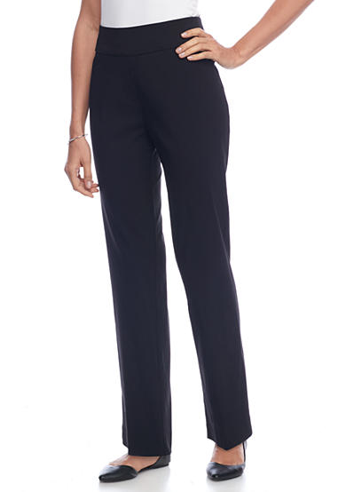 Alfred Dunner Petite Wrap It Up Proportioned Medium Slim Pant