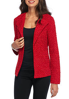 Alfred Dunner Wrap Boucle Glitter Jacket