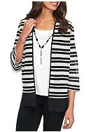 Alfred Dunner Petite Wrap It Up Stripe 2Fer Knit