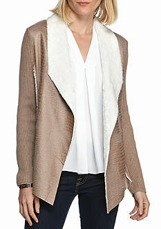 Alfred Dunner Twilight Point Sherpa Jacket