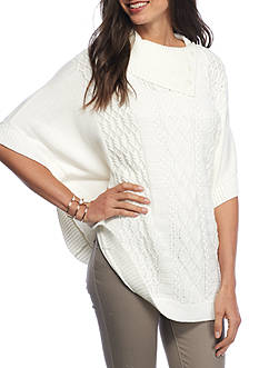 Alfred Dunner Twilight Point Cable Capelet