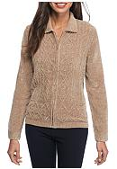 Alfred Dunner Twilight Point Chenille Cardigan