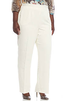 Alfred Dunner Plus Size Twilight Point Proportioned Medium Pants
