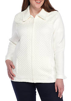Alfred Dunner Plus Size Quilt Lace Jacket