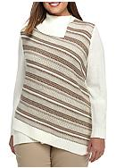 Alfred Dunner Plus Size Twilight Point Diagonal