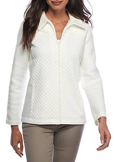 Alfred Dunner Twilight Point Quilted Lace Jacket