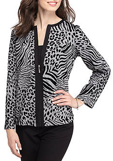 Alfred Dunner Casual Friday Animal Print Jacket