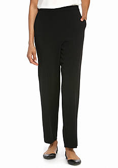 Alfred Dunner Tis the Season Short Slim Pants