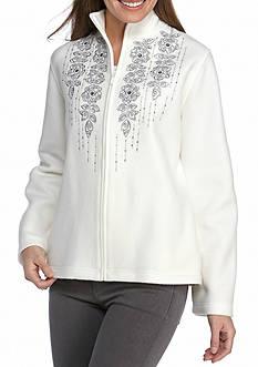 Alfred Dunner Northern Light Floral Yoke Jacket