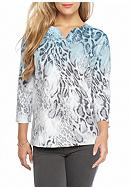 Alfred Dunner Northern Lights Ombre Animal Knit