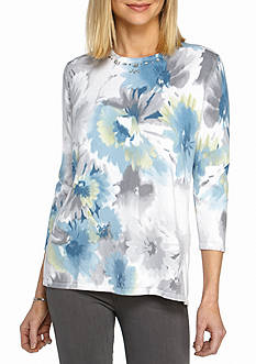 Alfred Dunner Northern Lights Print Sweater