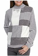 Alfred Dunner Northern Light Colorblock Sweater