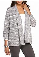 Alfred Dunner Northern Lights Pointelle Cardigan