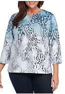 Alfred Dunner Plus Size Northern Lights Ombre