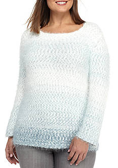Alfred Dunner Plus Size Northern Lights Ombre Texture