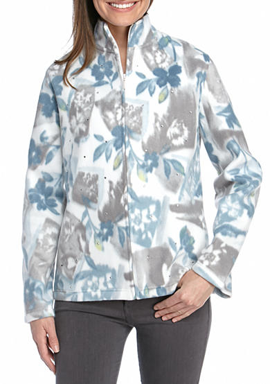 Alfred Dunner Petite Northern Light Floral Patch Jacket