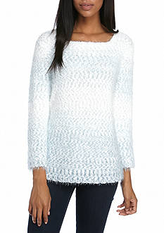 Alfred Dunner Petite Northern Lights Ombre Texture Top