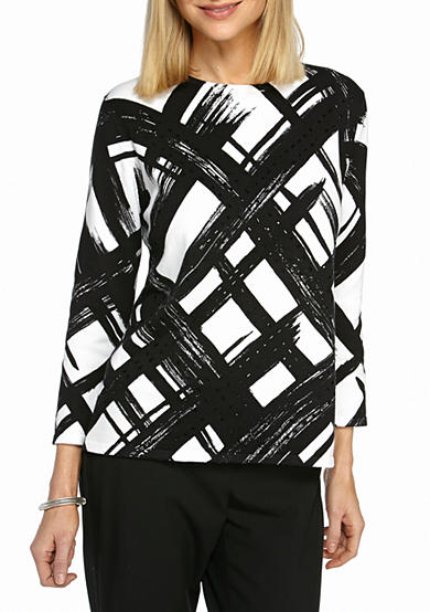 Alfred Dunner Theater District Brushstroke Sweater