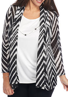 Alfred Dunner Plus Size Theater District Zigzag 2Fer