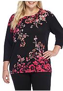 Alfred Dunner Plus Size Theater District 3/4