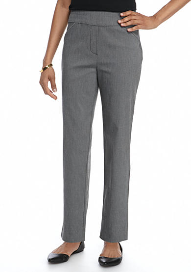Alfred Dunner Petite Theater District Proportioned Short Slim Pant
