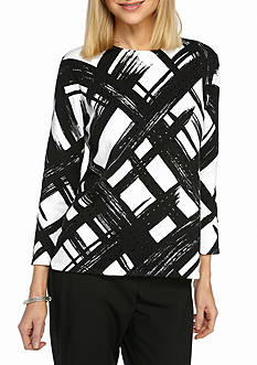 Alfred Dunner Petite Theater District Brushstroke Sweater