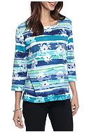 Alfred Dunner Adirondack Trail Watercolor Knit Top