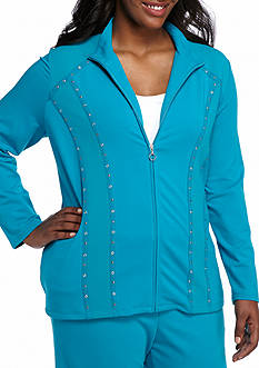 Alfred Dunner Plus Size Adirondack Trail Spliced Jacket