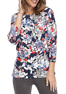 Alfred Dunner Uptown Girl Abstract Knit Top