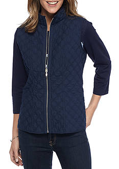 Alfred Dunner Petite Uptown Reversible Quilt Vest