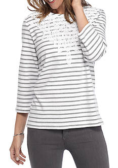 Alfred Dunner Uptown Girl Yoke Stripe Knit