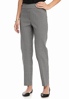 Alfred Dunner City Life Check Average Pants