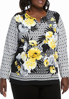 Alfred Dunner Plus Size City Life Knit Top
