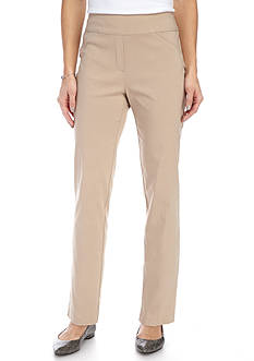 Alfred Dunner Just Peachy Stretch Average Pant
