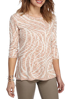 Alfred Dunner Just Peachy Dye Sweater