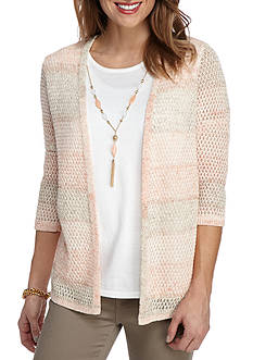 Alfred Dunner Just Peachy Texture 2Fer
