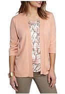 Alfred Dunner Petite Just Peachy Leaves 2Fer