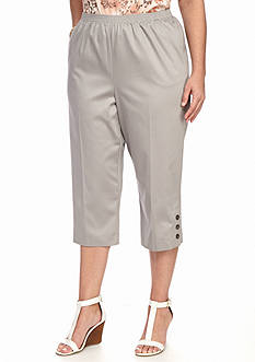 Alfred Dunner Plus Size Warm Weather Mint to Be Capri