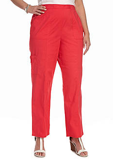 Alfred Dunner Plus Size Warm Weather Tropical Vibe Proportioned Short Pant