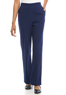 Alfred Dunner Cable Beach Solid Average Pants