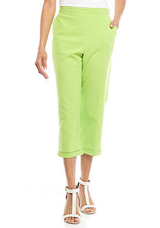 Alfred Dunner Cable Beach Solid Capri
