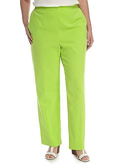 Alfred Dunner Plus Warm Cable Beach Proportion Medium Pant