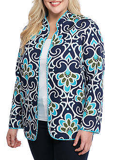 Alfred Dunner Plus Scenic Route Reversible Quilted Jacket