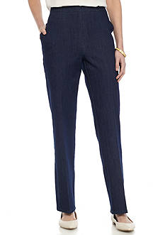 Alfred Dunner Petite Scenic Route Average Denim Pant
