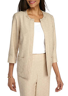 Alfred Dunner Ladies Who Lunch Solid Jacket