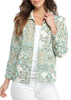 Alfred Dunner Petite Ladies Who Lunch Crinkle Jacket