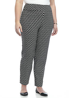 Alfred Dunner Plus Size Ethnic Beat Jacquard Pants